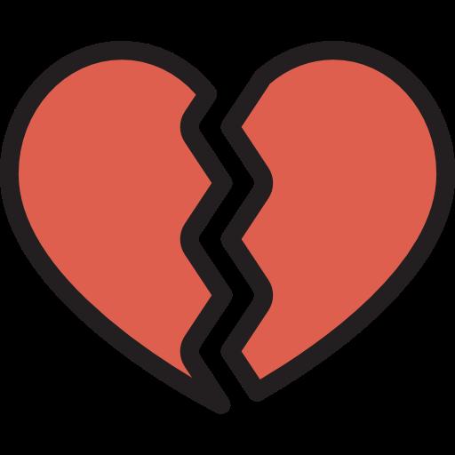 Love Shapes Romantic Heartbreak Broken Heart Sports And