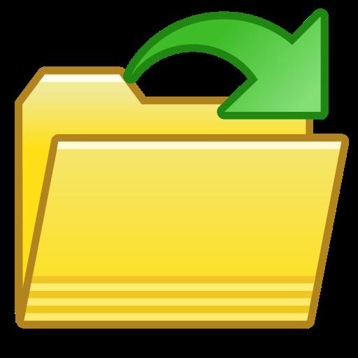 folder open file icon