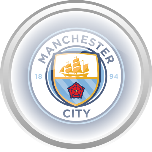 Manchester City Flag Football Premier English Icon