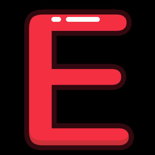 Letter red alphabet e letters icon size altavistaventures Images