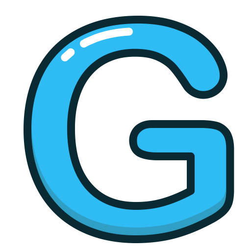 Blue, Letter, G, Alphabet, Letters Icon