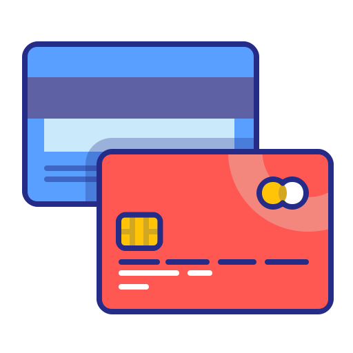 cards pay method credit payment purchase icon
