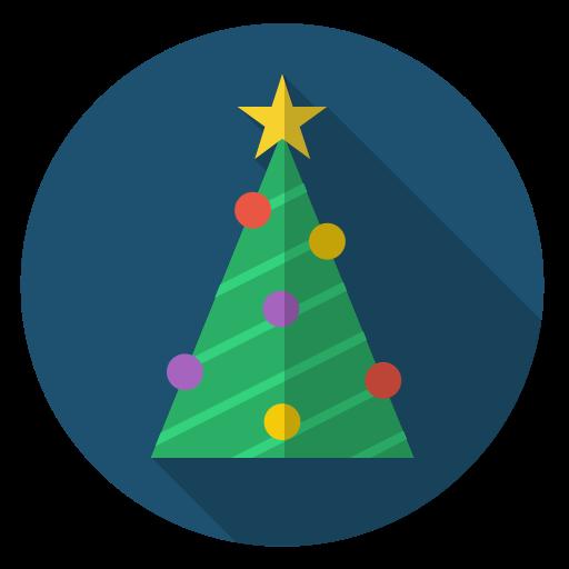 Star  Green  Tree  Decoration  Christmas  Chain  Xmas Icon