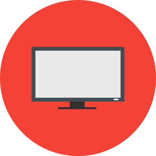Tv, screen, led, lcd icon
