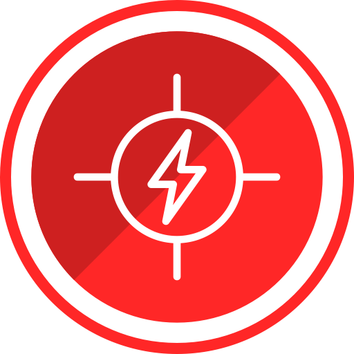 electricity high danger construction voltage risk icon